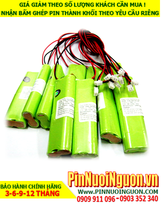 Pin đèn Exit 4.8v AA700mAh, Pin đèn khẩn cấp 4.8v AA700mAh; Pin đèn sự cố 4.8v AA700mAh; Pin sạc NiMh 4.8v AA700mAh