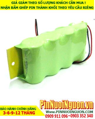 Pin đèn Exit 4.8v C2500mAh, Pin đèn thoát hiểm 4.8v C2500mAh, Pin đèn khẩn cấp 4.8v C2500mAh; Pin sạc NiMh 4.8v C2500mAh