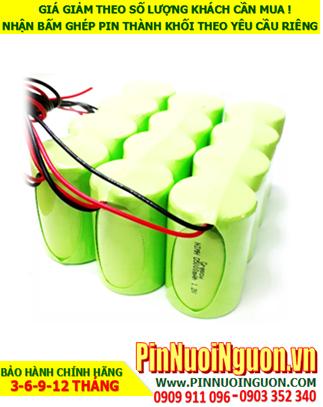 Pin đèn Exit 4.8v C4000mAh, Pin đèn khẩn cấp 4.8v C4000mAh, Pin đèn thoát hiểm 4.8v C4000mAh; Pin sạc NiMh 4.8v C4000mAh