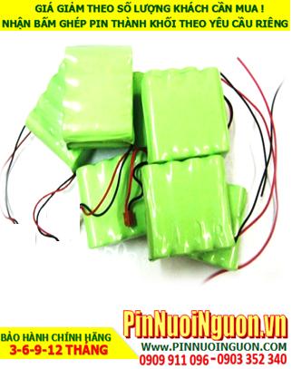 Pin đèn exit 4.8v AAA550mAh, Pin đèn sự cố 4.8v AAA550mAh, Pin đèn khẩn cấp  4.8v AAA550mAh; Pin sạc NiMh 4.8v AAA550mAh