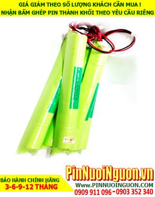 Pin đèn exit 6V-C3000mAh, Pin đèn thoát hiểm 6V-C3000mAh, Pin đèn khẩn cấp 6V-C3000mAh; Pin sạc NiMh 6v-C3000mAh