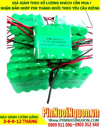 Pin sạc đèn Exit Paragon 4.8v-AA1000mAh, Pin đèn khẩn cấp thoát hiểm Paragon 4.8v-AA1000mAh chính hãng có chứng chỉ C/O nhà máy| Bảo hành 1 năm