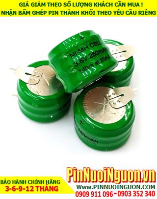 Pin sạc 3.6v 250mAh (3/V250H); Pin sạc NiMh NiCd 3.6v 250mAh (3/V250H); Pin sạc công nghiệp 3.6v 250mAh (3/V250H)