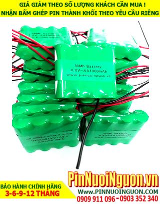 Pin sạc 4.8v AA1000mAh; Pin sạc NiMh Nicd 4.8v AA1000mAh; Pin sạc khối 4.8v AA1000mAh; Pin sạc công nghiệp 4.8v AA1000mAh