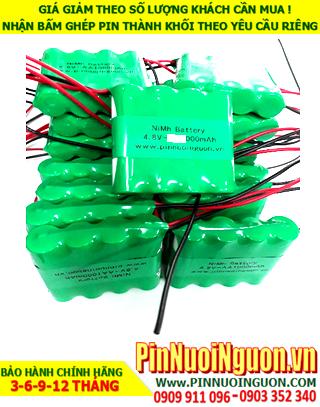 Pin sạc 4.8v AAA800mAh; Pin sạc NiMh NiCd 4.8v AAA800mAh; Pin sạc khối 4.8v AAA800mAh; Pin sạc công nghiệp 4.8v AAA800mAh