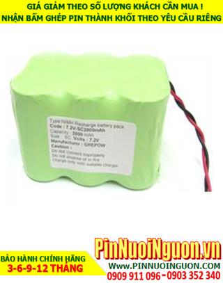 Pin sạc 7.2v D4500mAh; Pin sạc NiMh NiCd 7.2v D4500mAh; Pin sạc khối 7.2v D4500mAh; Pin sạc công nghiệp 7.2v D4500mAh