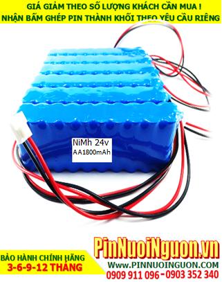 Pin sạc 24v-AA1800mAh; Pin sạc NiMh NiCd 24v-AA1800mAh; Pin sạc khối 24v-AA1800mAh; Pin sạc công nghiệp 24v-AA1800mAh