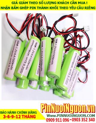 Pin sạc 1.2v AA1500mAh; Pin đèn sự cố 1.2v AA1500mAh; Pin đèn Exit thoát hiểm 1.2v AA1500mAh; Pin đèn khẩn cấp 1.2v AA1500mAh