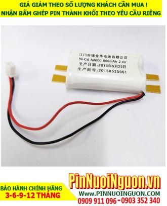Pin sạc 2.4v AA600mAh; Pin đèn Exit thoát hiểm 2.4v AA600mAh; Pin đèn sự cố khẩn cấp 2.4v AA600mAh; Pin sạc NiMh NiCd 2.4v AA600mAh