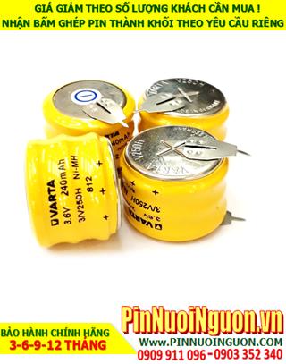 Pin sạc Varta 3/V250H (3.6v-240mAh); Pin nuôi nguồn Varta 3/V250H (3.6v-240mAH) Made in Germany| HÀNG CÓ SẲN