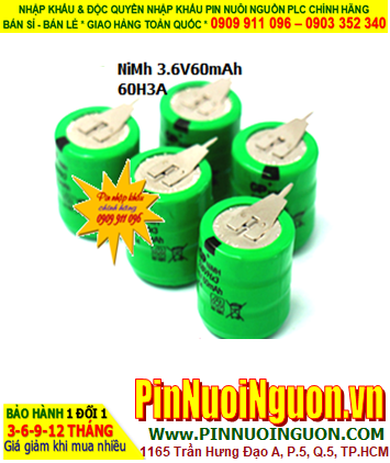 Pin sạc 3.6v-60mAh(3/V60H); Pin sạc NiMh NiCd 3.6v-60mAh(3/V60H); Pin nuôi nguồn 3.6v-60mAh(3/V60H)