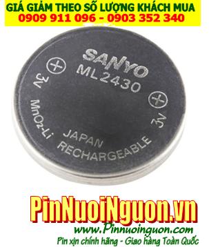 Pin ML2430; Pin sạc ML2430; Pin sạc 3v lithium Sanyo ML2430; Pin nuôi nguồn Sanyo ML2430