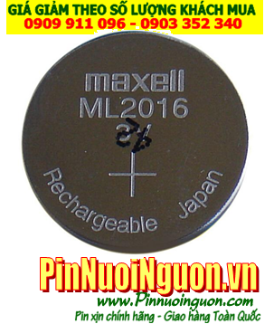 Pin ML2016; Pin Maxell ML2016; Pin sạc 3v lithium Maxell ML2016; Pin nuôi nguồn Maxell ML2016