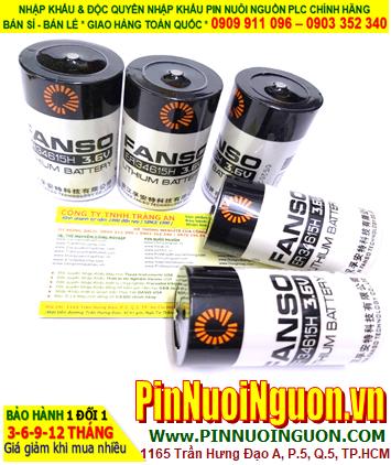 Pin ER34615H _Pin Fanso ER34615H; Pin nuôi nguồn PLC Fanso ER34615H lithium 3.6v D 20000mAh chính hãng
