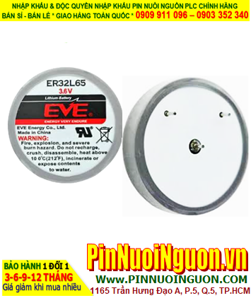 EVE ER32L65; Pin nuôi nguồn ER32L65 lithium 3.6v 1/10D 1000mAh