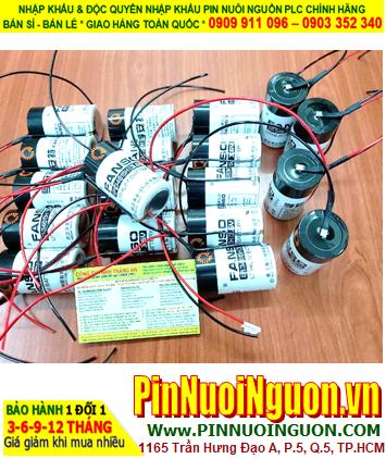 Pin ER34615H _Fanso ER34615H; Pin nuôi nguồn Fanso ER34615H lithium 3.6v 19000mAh (đã bấm dây đỏ đen)