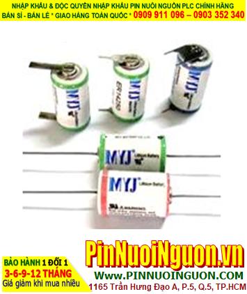 Pin ER14250 _Pin MYJ ER14250; Pin nuôi nguồn MYJ ER14250 lithium 3.6V 1/2AA 1200mAh _Xuất xứ China