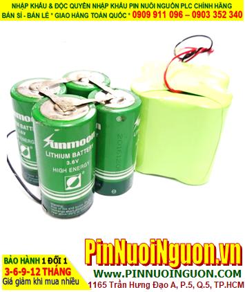 Sunmoon ER34615; Pin nuôi nguồn PLC Sunmoon ER34615 3.6v 80000mAh (Ghép 4viên)