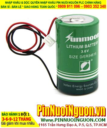 Pin ER34615 _Pin Sunmoon ER34615; Pin nuôi nguồn Sunmoon ER34615 lithium 3.6v D 19000mAh chính hãng