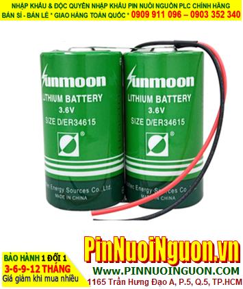 Pin ER34615 _Pin Sunmoon ER34615; Pin nuôi nguồn Sunmoon ER34615 (2 viên ghép đôi) 3.6v 38000mAh