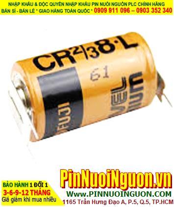 FUJI CR2/3 8.L; Pin nuôi nguồn PLC FUJI CR2/3 8.L lithium 3v 2/3A 2000mAh  chính hãng _Made in Japan
