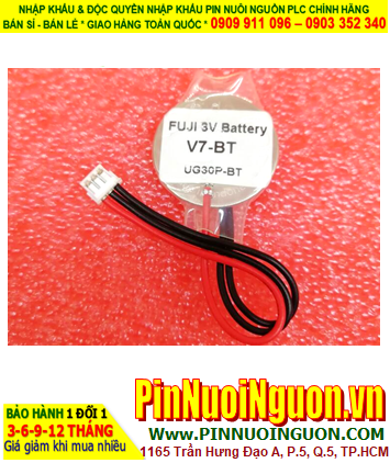 FUJI V7-BAT; Pin nuôi nguồn FUJI V7-BAT lithium 3.0v 620mAh chính hãng _Made in Indonesia