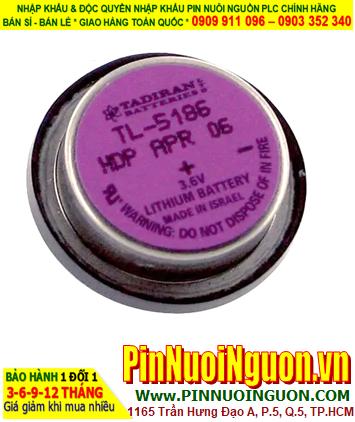 Pin Tadiran TL-5186; Pin nuôi nguồn Tadiran TL-5186 Lithium 3.6V 400mAh chính hãng _Xuất xứ Israel