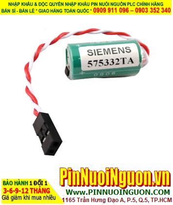 Pin Siemens 575332; Pin nuôi nguồn PLC Siemens 575332 lithium 3v 1/2AA 950mAh _Made in Germany (Đức)