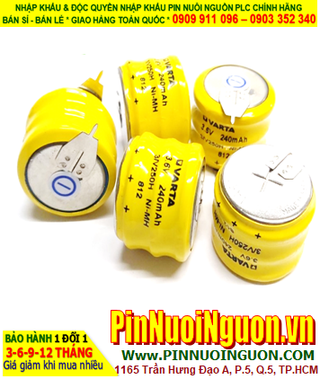 Pin sạc NiMh NiCd Varta 3/V250H (3.6v-250mAh); Pin nuôi nguồn PLC Varta 3/V250H (3.6v-250mAh)