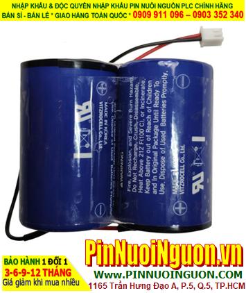 Tekcell SB-D02; Pin nuôi nguồn PLC Tekcell SB-D02 (2 viên ghép đôi) lithium 7.2v 19000mAh chính hãng