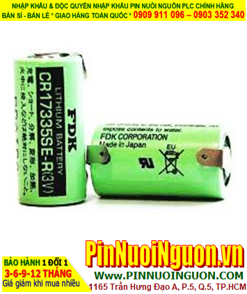 FDK CR17335SE-R; Pin nuôi nguồn PLC FDK CR17335SE-R lithium 3v 2/3A 1800mAh _Made in Japan