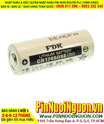FDK CR17450SE; Pin nuôi nguồn PLC FDK CR17450SE lithium 3v 4/5A 2500mAh