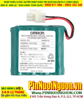 Pin nuôi nguồn Omron 48H907N  (4.8V 1650mAh) Rechargeable Nickel-Metal Hydride Battery | CÒN HÀNG