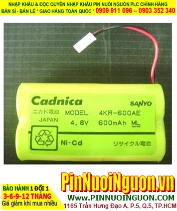 Pin nuôi nguồn Sanyo 4KR-600AE Cadnica 4.8V 600mAh (4.8vAA600mAh)| ĐANG CÒN HÀNG