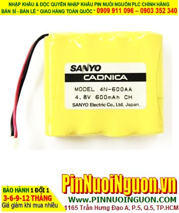 Pin nuôi nguồn SANYO 4N-600AA 4.8 V 600 mAh Battery Pack (4.8vAA600mAh)| ĐANG CÒN HÀNG