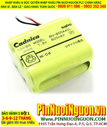 Pin nuôi nguồn SANYO 6N-600AACL Ni-Cad Battery (7.2v-AA600mAh) chính hãng| ĐANG CÒN HÀNG