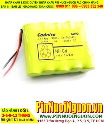 Pin nuôi nguồn SANYO 5N-700AACL Cadnica 6V 700mAh (6V-700mAh) NiMh-NiCd| ĐANG CÒN HÀNG