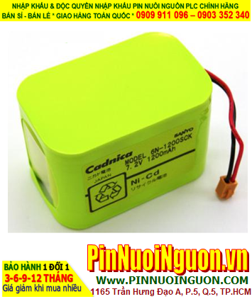 Pin nuôi nguồn Battery For B.braun Syringe Pump 6N-1200SCK (7.2v) chính hãng Made in Japan| hàng có sẳn