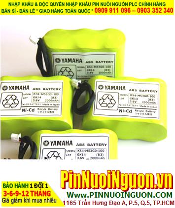 Pin nuôi nguồn YAMAHA KS4-M53G0-102 3.6V BATTERY NI-CD 3.6V 2000MAh chính hãng Made in Japan | hàng có sẳn
