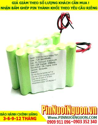 Pin nuôi nguồn 7.2v AA2300mAh NiMh; Pin sạc 7.2v AA2300mAh nuôi nguồn PLC| ĐANG CÒN HÀNG