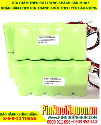 Pin nuôi nguồn 6v-C2500mAh NiMh; Pin sạc 6v-C2500mAh NiMh nuôi nguồn PLC| ĐANG CÒN HÀNG