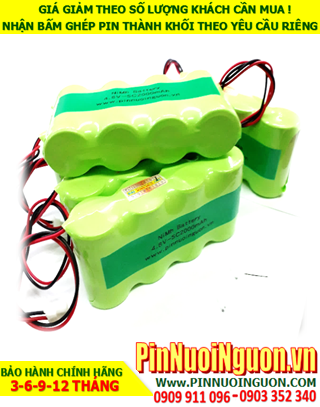 Pin nuôi nguồn 4.8v C3000mAh NiMh; Pin sạc 4.8v C3000mAh NiMh nuôi nguồn PLC| ĐANG CÒN HÀNG