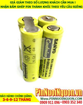Pin sạc 4.8V 700mAh NiMh-NiCd, Pin sạc NiCd-NiMh AA700mAh-4.8V chính hãng| có sẳn hàng