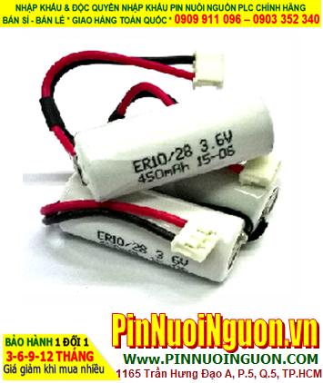 Pin ER10/28 _Pin ER10280; Pin nuôi nguồn PLC ER10/28 (ER10280) lithium 3.6v size 2/3AAA 450mAh chính hãng