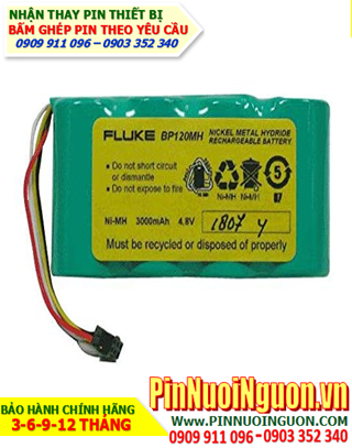 Pin FLUKE BP130; Pin sạc NiMh 4.8v 3000mAh Fluke BP130 _Pin sạc NiMh 4.8v 3000mAh