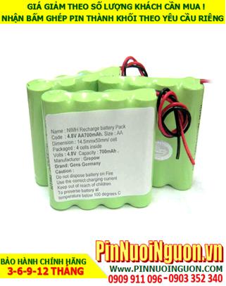 Pin thiết bị y khoa 4.8V-700mAh NIMH/NICD | hàng có sẳn-Bảo hành 06 tháng