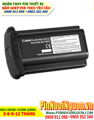 Pin sạc máy ảnh CANON NP-E3 NiMh/NiCd 12V, Thay cell pin máy ảnh CANON NP-E3