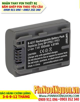 Pin máy ảnh Sony NP-FM50/1100mAh-7.2V, thay cells pin/ hàng có sẳn - bảo hành 06 tháng