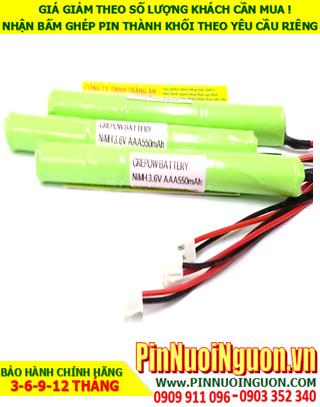 Pin sạc 3.6v AAA550mAh; Pin đèn Exit thoát hiểm 3.6v AAA550mAh; Pin đèn sự cố khẩn cấp 3.6v AAA550mAh; Pin sạc NiMh NICd 3.6v AAA550mAh