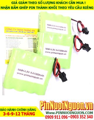 Pin sạc 4.8v AA1000mAh; Pin đèn Exit thoát hiểm 4.8v AA1000mAh; Pin đèn khẩn cấp sự cố 4.8v AA1000mAh; Pin sạc NiMh NiCd 4.8v AA1000mAh